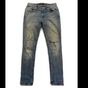 Nudie Blue Tape Ted Tapered Leg Jeans Size 28x32